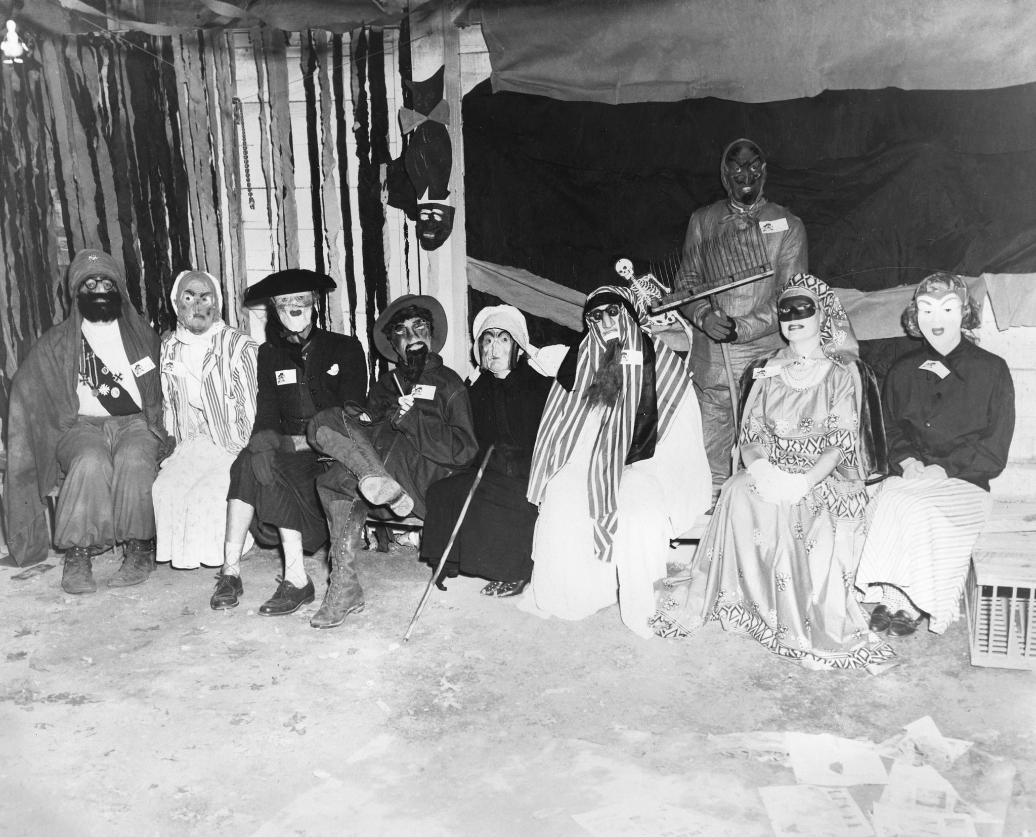 A Halloween party at the home of Clay and Wilma Auman in Asheboro, 1957. -- Courtesy of Elizabeth Perry Nault