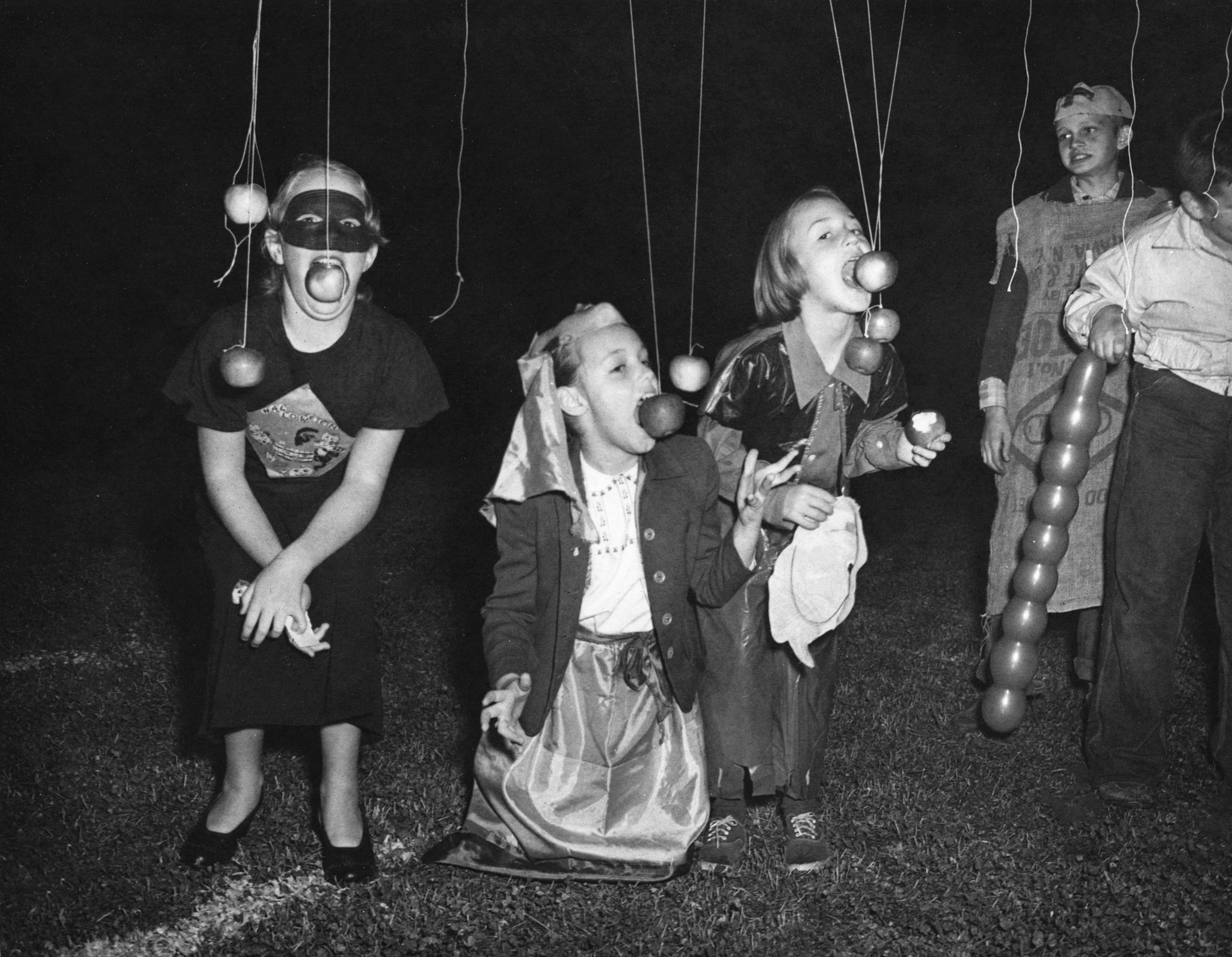 Community Halloween party held at the Asheboro High School stadium, 1953. -- Courtesy of Randolph County Public Library