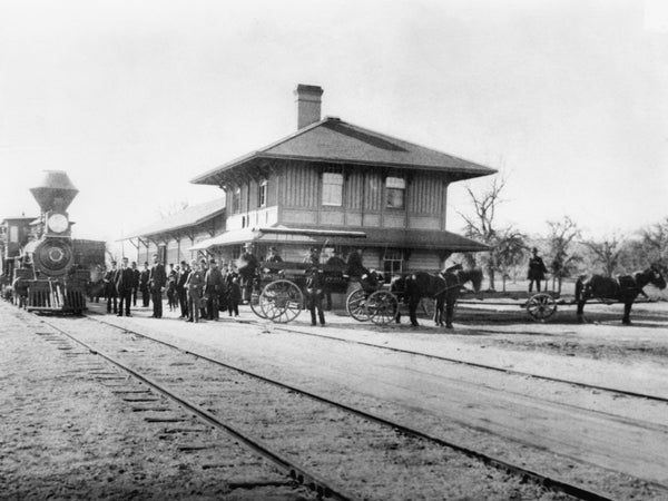 Paso Robles Train Depot, 1893. -- Courtesy Paso Robles Pioneer Museum