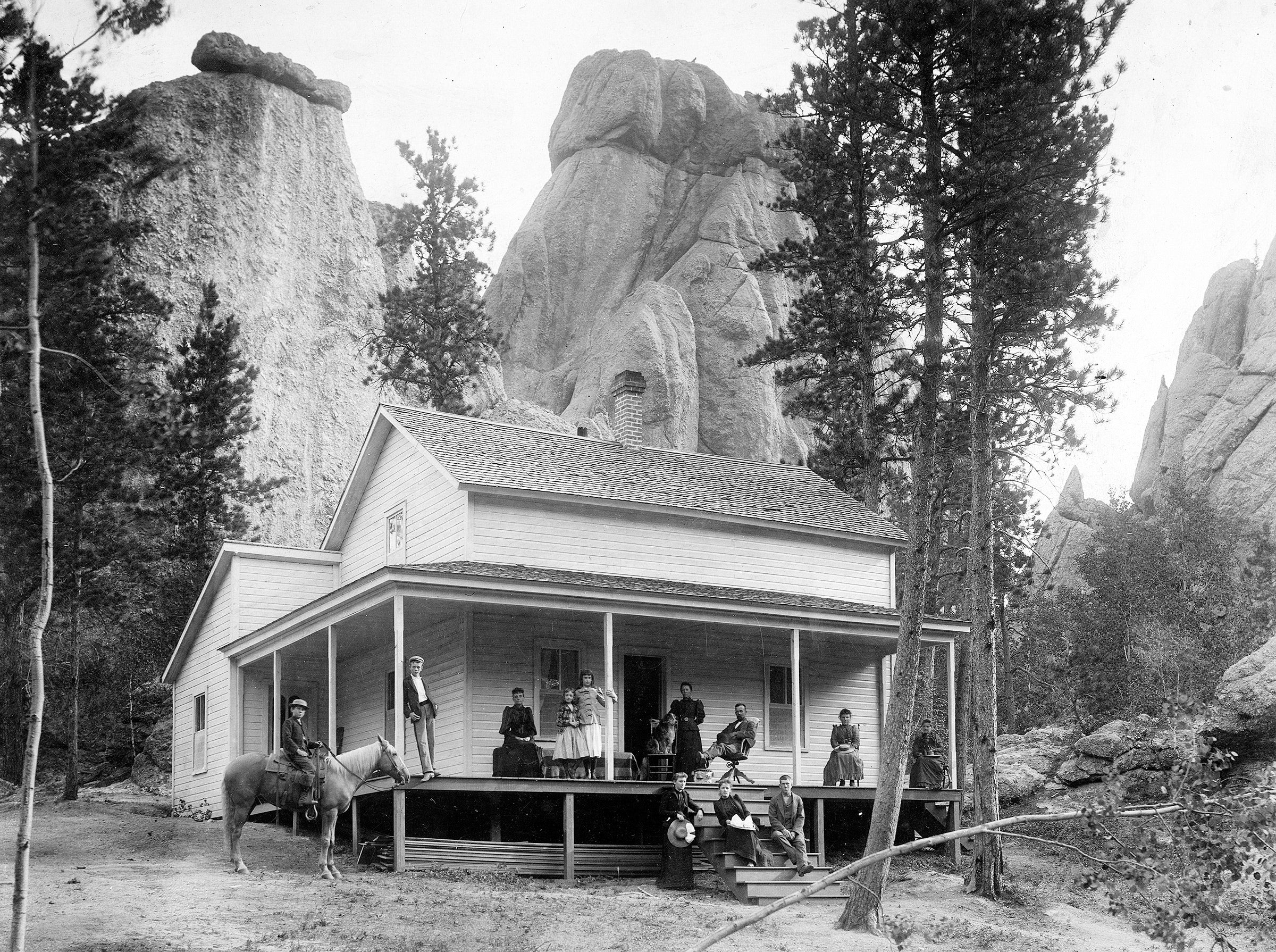 The McCrary Cabin, the Sylvan Lake Hotels staff cottage, circa 1910. Courtesy 1881 Courthouse Museum