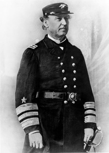 Admiral Farragut in dress uniform. In 1853, Secretary of the Navy James C. Dobbin selected Commander David G. Farragut to create Mare Island Navy Yard near San Francisco in San Pablo Bay. On September 16, 1854, Commander Farragut arrived to oversee the building of the Mare Island Navy Yard at Vallejo, California, which became the primary port for ship repairs on the West Coast. -- Courtesy Vallejo Naval and Historical Museum