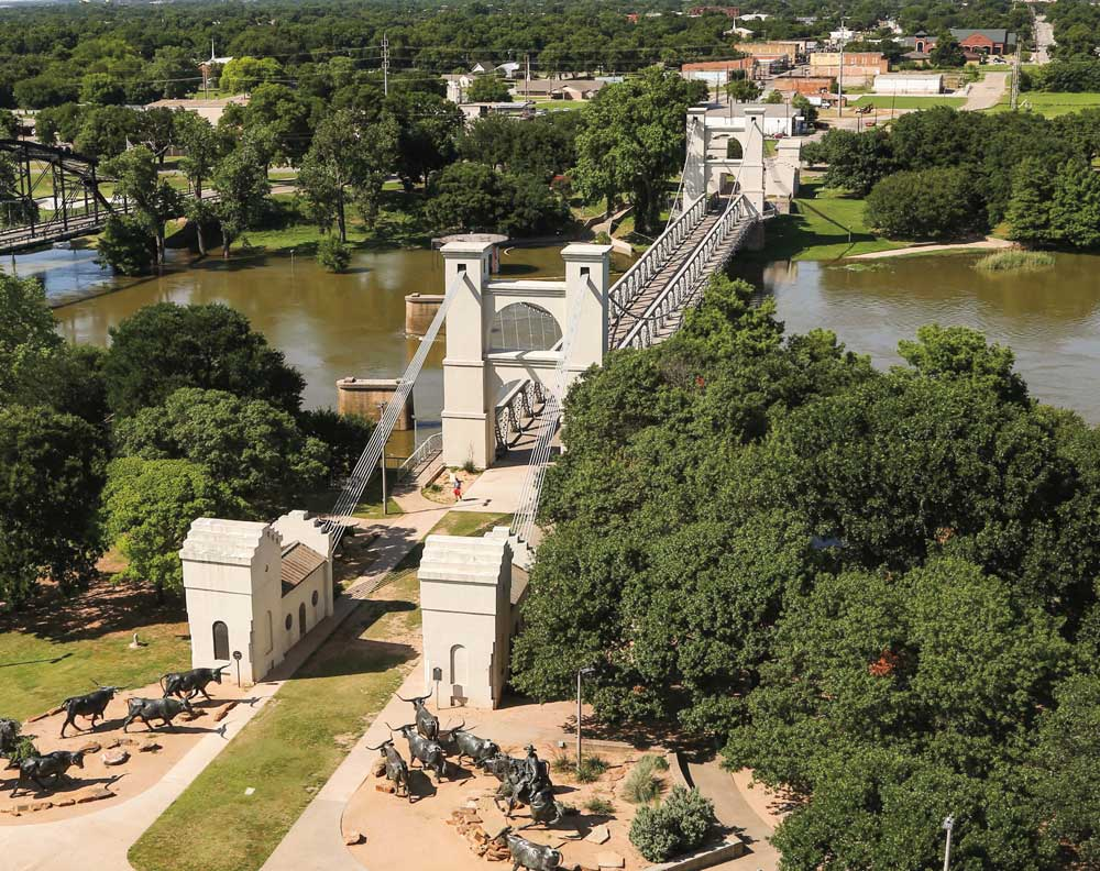The Waco Suspension Bridge