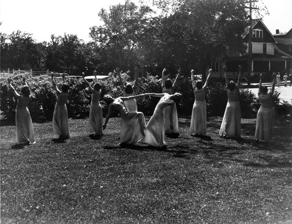 """Orchesis"" performing a dance for the Mankato State Teacher's College Mother's Day program, 1933. -- Courtesy University Archives at Minnesota State University, Mankato / msu10228 collection"