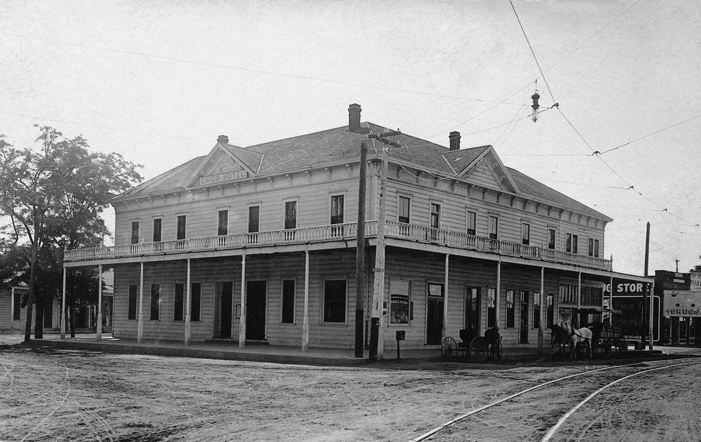 The Chico Hotel at the corner of Eighth and Main Streets, circa 1910. -- Courtesy of Randy Taylor Collection