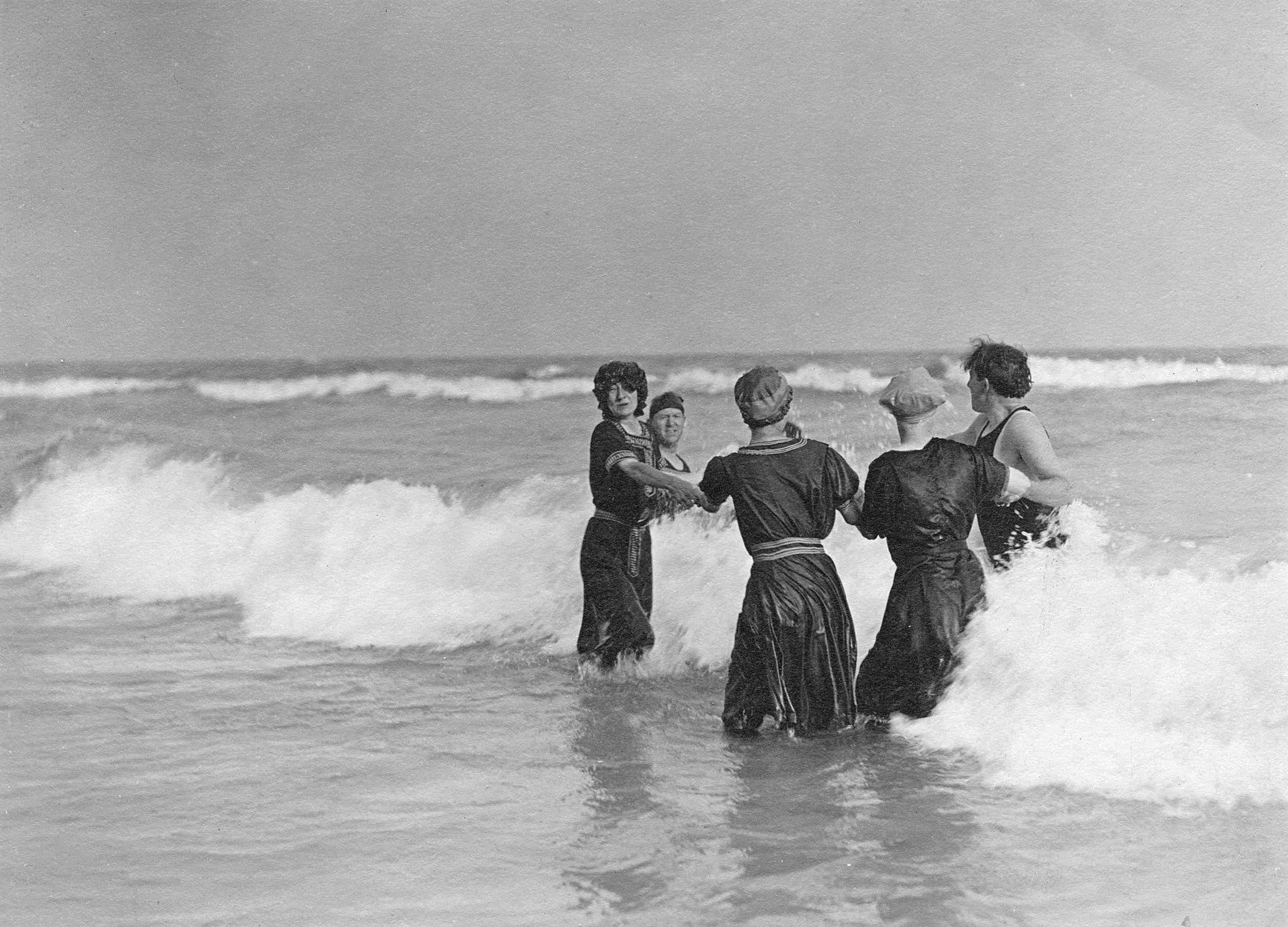 Swimmers near Indiana Dunes State Park, 1915. -- Courtesy Prairie Club Archives, Westchester Township History Museum