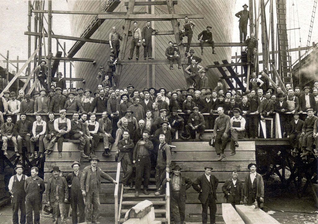 Foundation Shipyard located between 2700 & 2900 NW Front Avenue circa 1918. -- Genevieve (Edwards) Ely