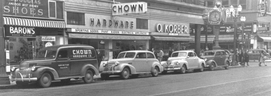 Chown Hardware on 4th Avenue in the 1930s. -- Anne Ashley (Chown Hardware)