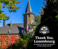 Thank You, Luxembourg: 50 Years of Miami University in the Grand Duchy Cover