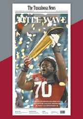 Title Wave: Alabama Championship: Newspaper Front Page Poster Cover