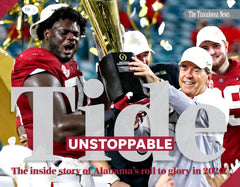 Tide Unstoppable: The Inside Story of Alabama's Roll to Glory in 2020 Cover