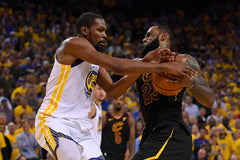 be5b90a9107d Golden State Warriors  Kevin Durant (35) blocks Cleveland Cavaliers  LeBron  James ...