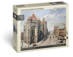 Vintage Photo Puzzle: Niagara Street, Buffalo, 1908: 500 Pieces Cover