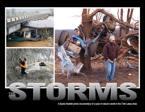The Storms: A Baxter Bulletin photo documentary of a year of nature's wrath in the Twin Lakes Area Cover