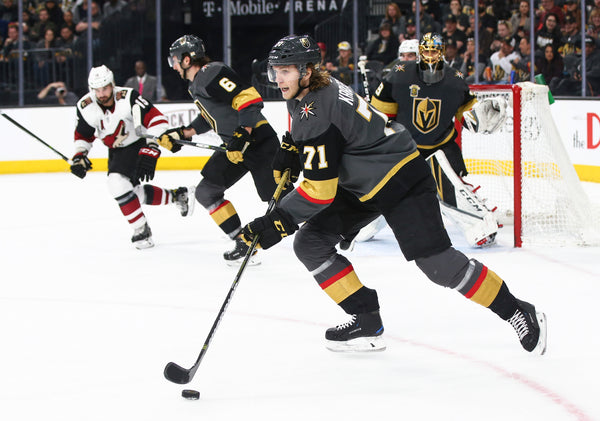 Golden Knights center William Karlsson (71) skates up the ice with the puck  during 5ffb7ac8c