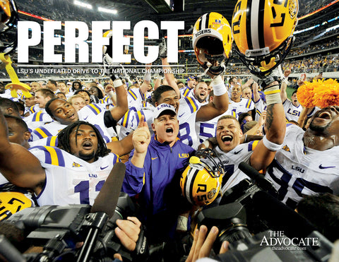 Perfect: LSU's Undefeated Drive to the National Championship Cover