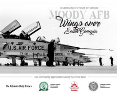 Celebrating 75 Years of Service: Moody AFB: Wings over South Georgia Cover