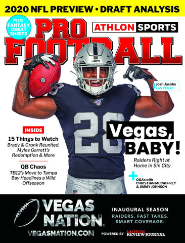 Commemorative: Las Vegas Raiders 2020 NFL Preview: Athlon Sports Cover