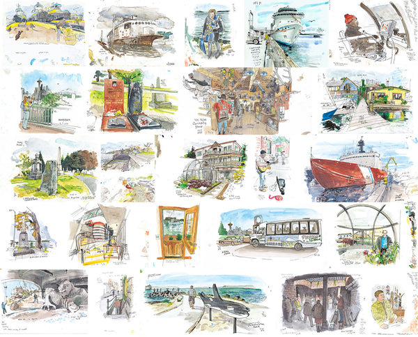 Seattle Sketcher: An Illustrated Journal by <br />Seattle Times Artist Gabriel Campanario