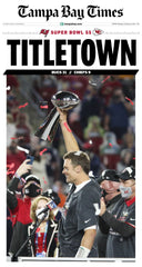 Titletown: Tampa Bay Times: Newspaper Front Page Poster Cover