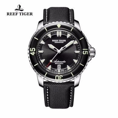 The Reef Tiger Deep Ocean: Men's Automatic Watch, Super Luminous Dive and Sport Watch with Date