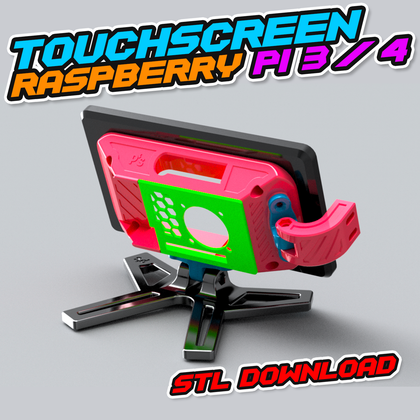 Touchscreen Raspberry Pi 3 / 4 Halter (STL Downloads)