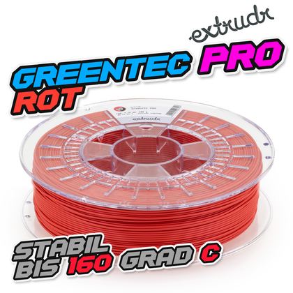Extrudr GreenTEC PRO - Rot [1.75mm] (56,24€/Kg)