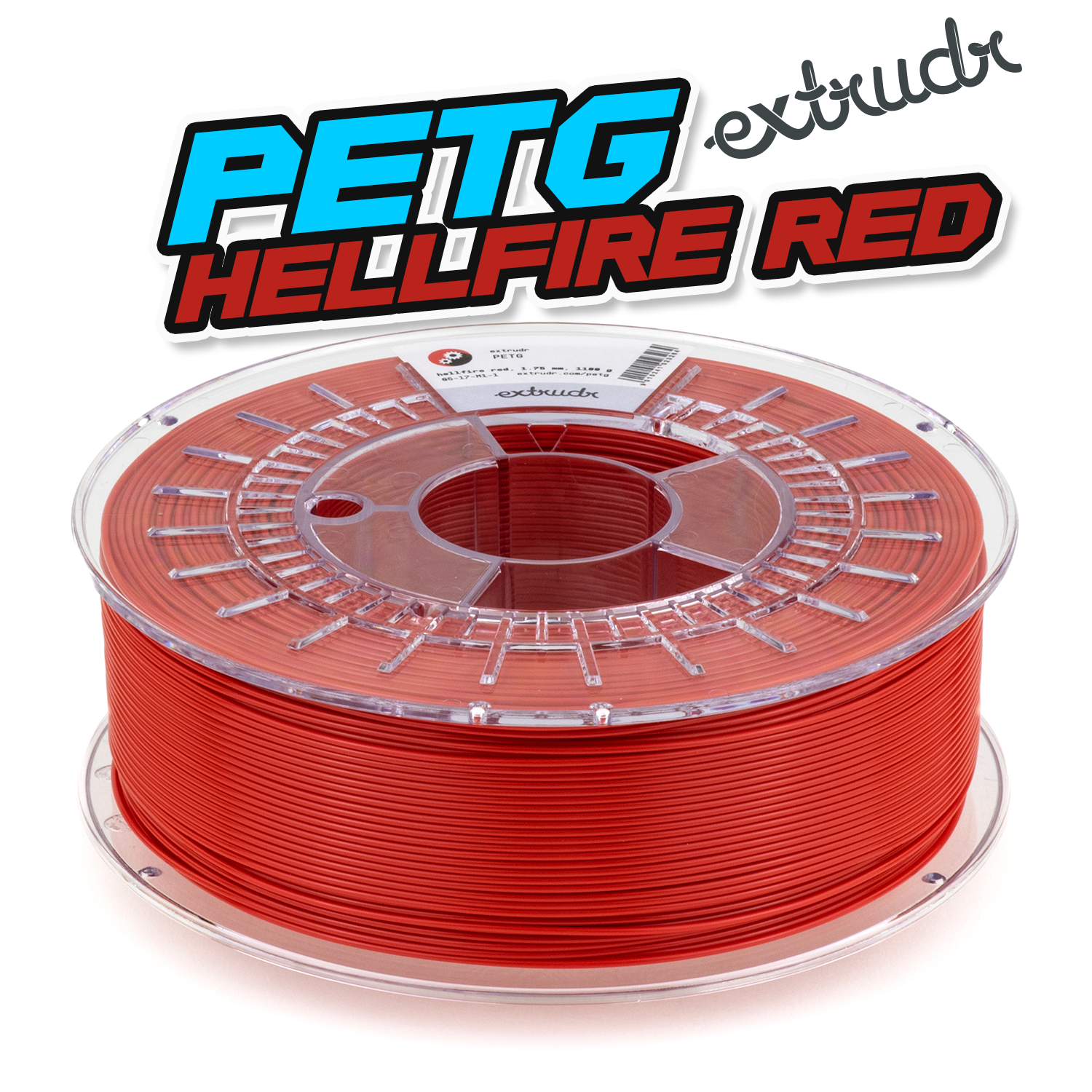 Extrudr PETG - Hellfire Rot [1.75mm] (35,45€/Kg)