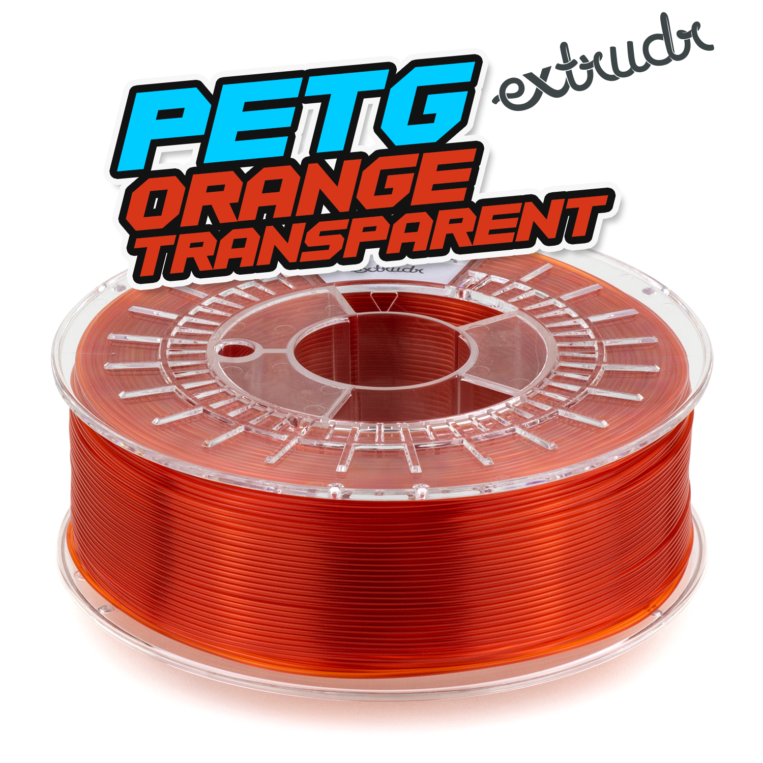 Extrudr PETG - Orange transparent [1.75mm] (35,45€/Kg)