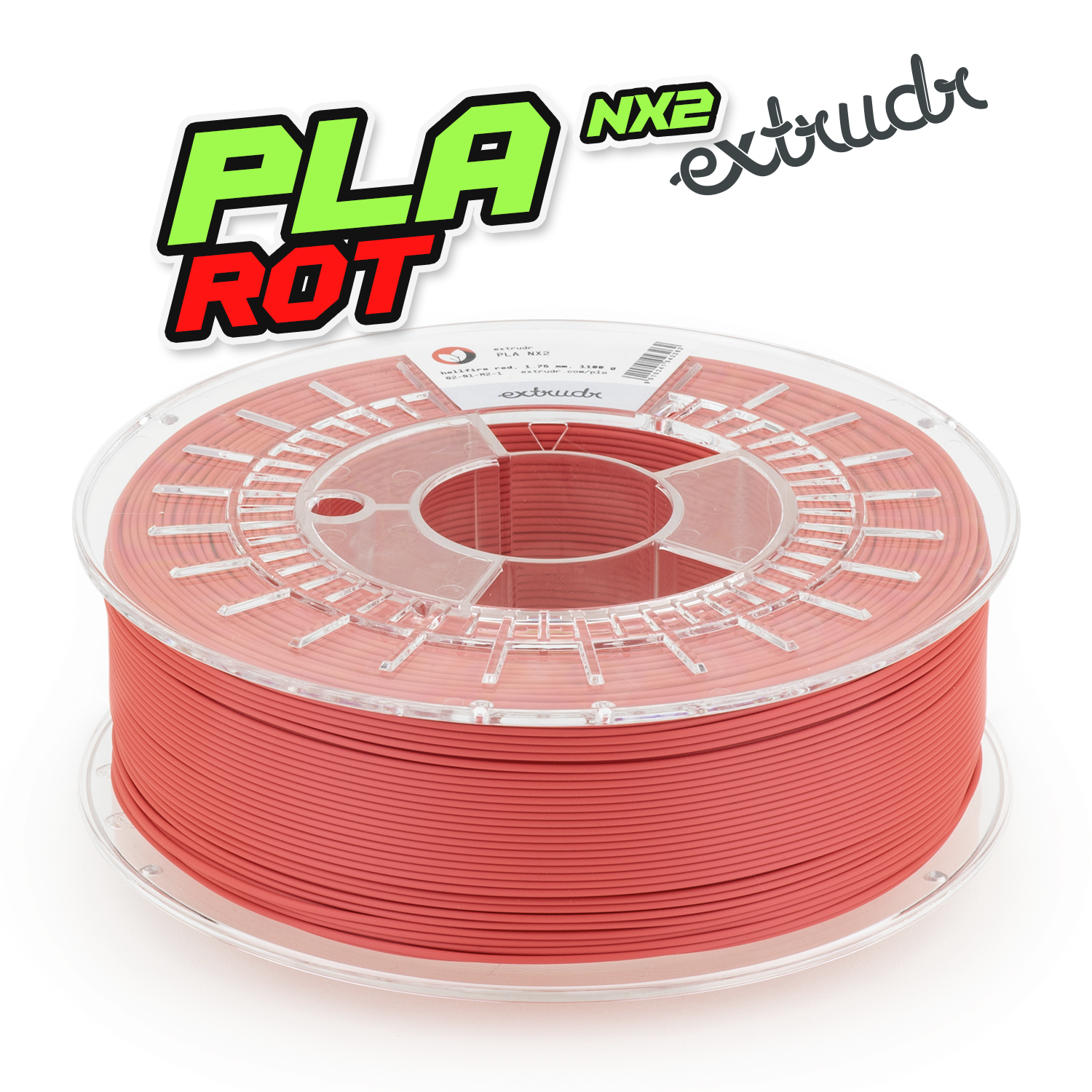 Extrudr PLA NX2 - Hellfire Rot [1.75mm] (23,62€/Kg)
