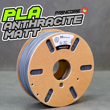 PRINCORE PLA - ANTHRACITE MATT [1.75mm] (25,99€/Kg)