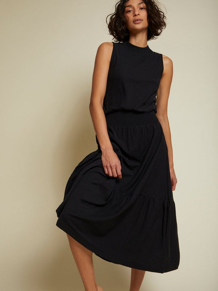 NATION- Barrett Midi Tank Dress In Black