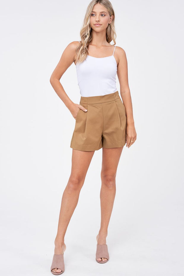 Palmer Natural High Waisted Shorts