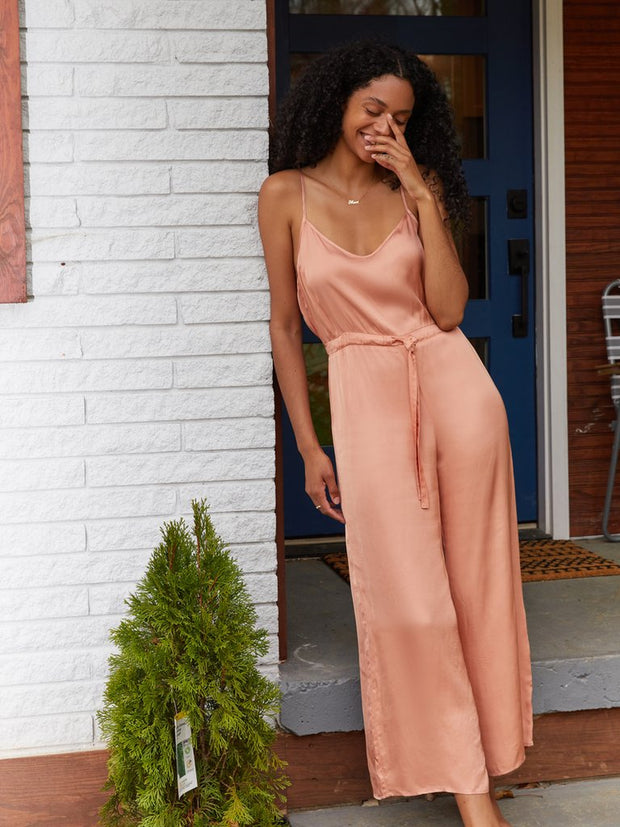 NATION- Aly Jumpsuit in Peach