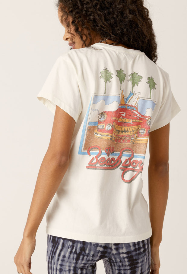 PRE-ORDER: DAYDREAMER- The Beach Boys 1983 Tour Tee In Vintage White