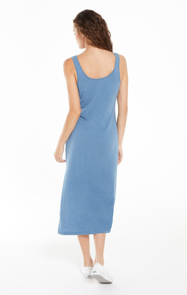 Z Supply - Cabana Slub Tank Dress - Washed Blue
