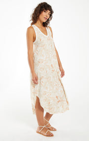 Z Supply - Reverie Floral Midi Dress - Sun Tan