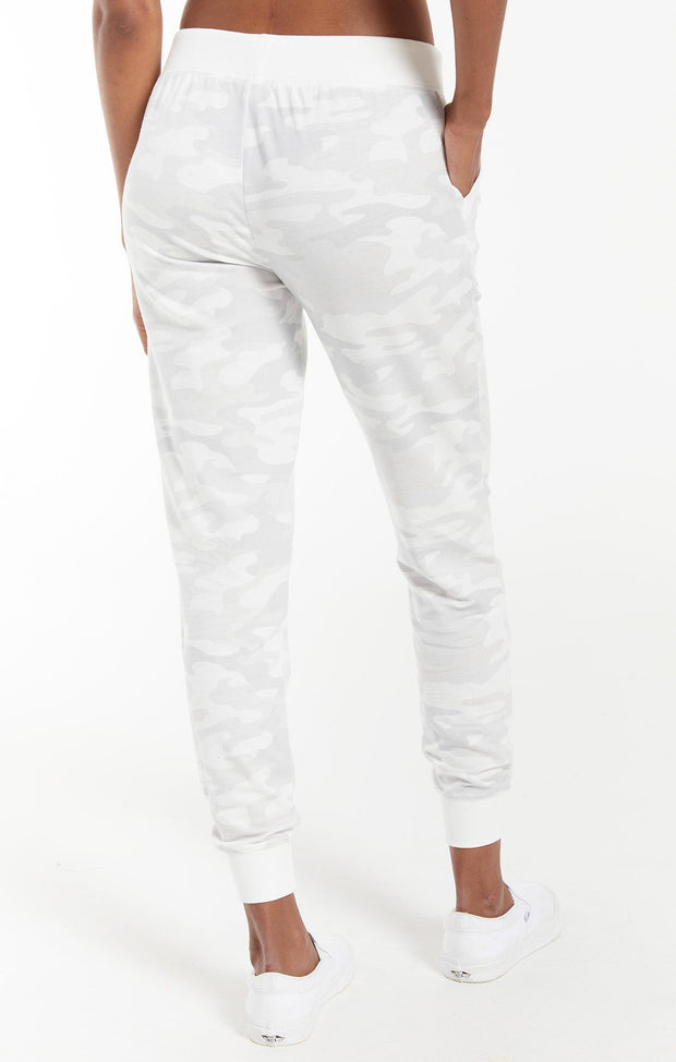 Z SUPPLY - The Camo Pant - Camo Dove Grey