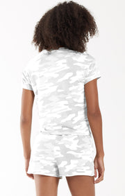 Z SUPPLY - Camo Modern Crew Tee- Camo Dove Grey