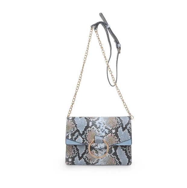 Ella Snake Skin Crossbody - Blue Multi