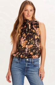Napa Nights Tie Neck Top