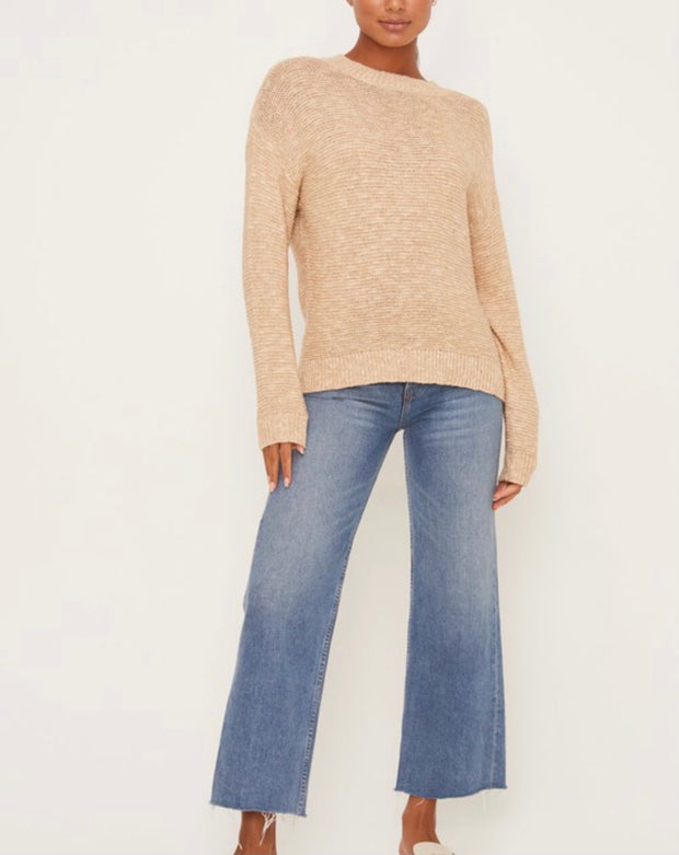 Dylan Long Sleeve Sweater-Taupe