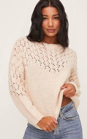 Ian Knit Sweater - Cream