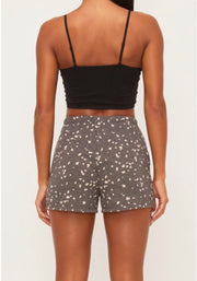 Lolita Spotted Lounge Short - Charcoal