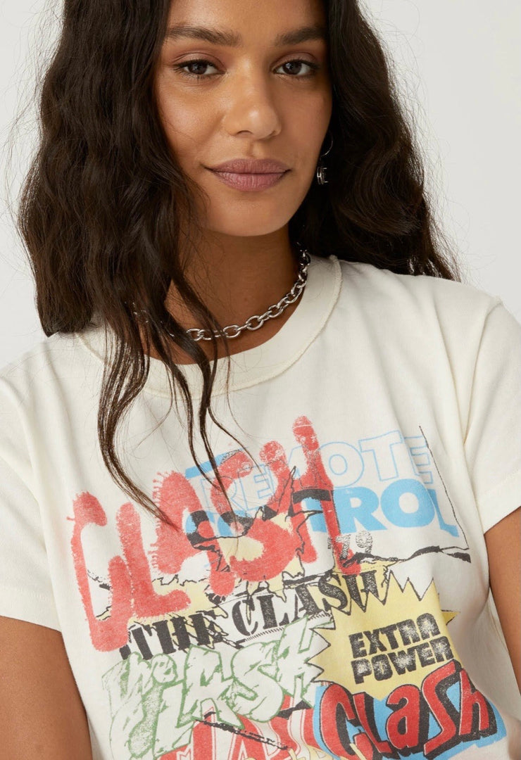 DAYDREAMER  The Clash Collage Reversible Girlfriend Tee