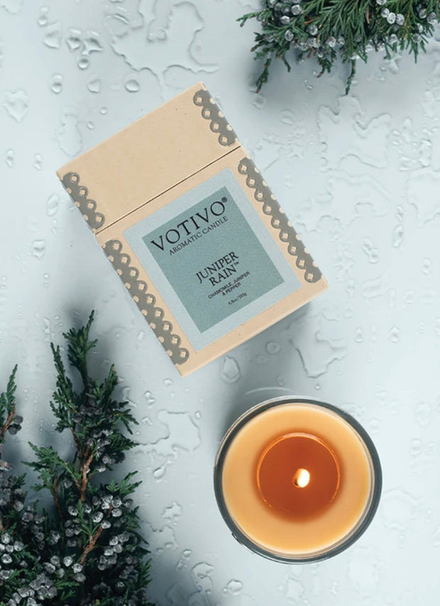 Aromatic Candle-Juniper Rain  6.8 oz