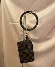 Designer Luxe Keychain and Wallet Combo