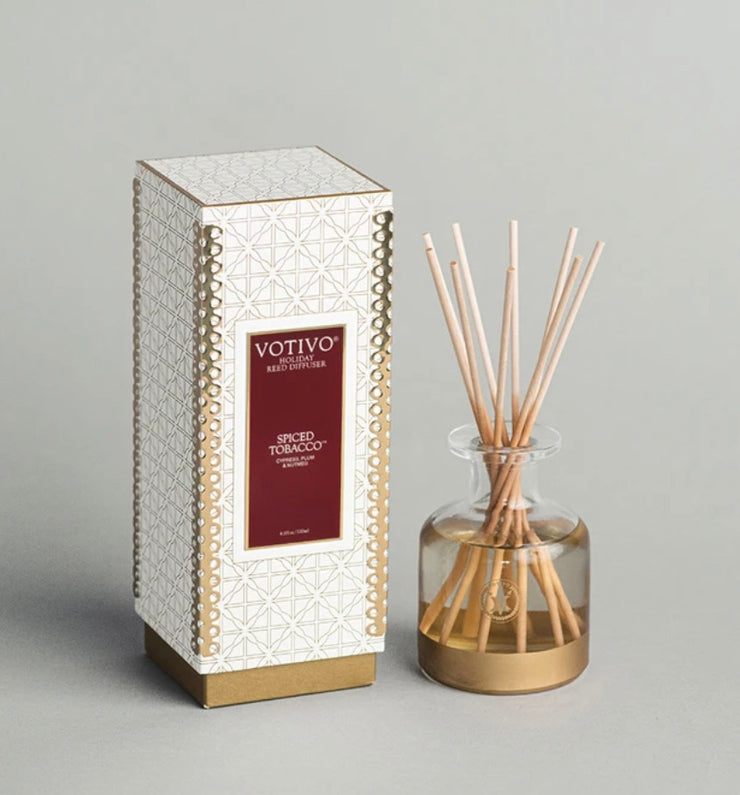 Spiced Tobacco Holiday Diffuser - 4.1floz
