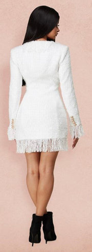 White Swan Tweed Blazer Dress