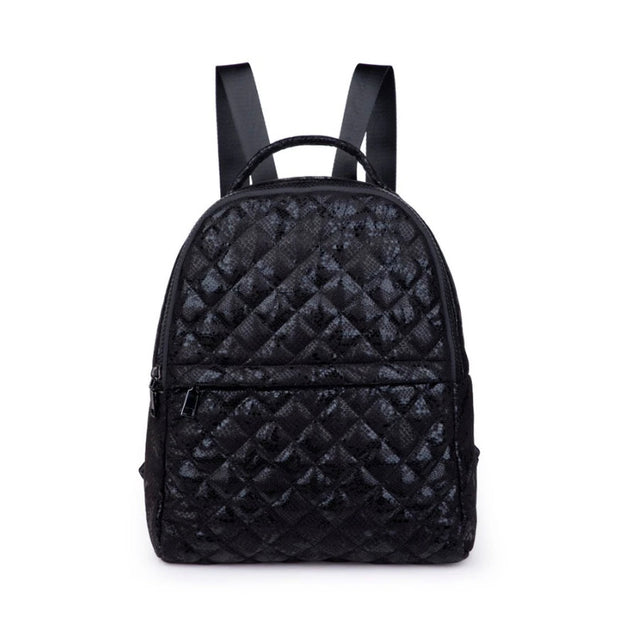 Sasha Quilted Backpack - Black