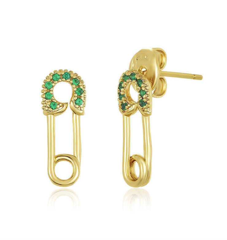 Baby Safety Pin Studs